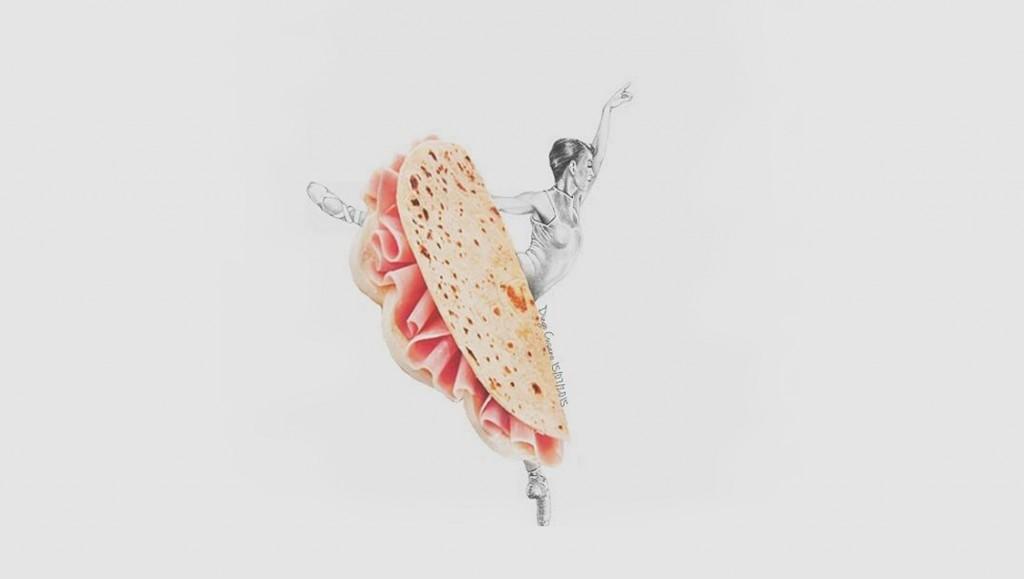 Collage gastronómico de Diego Cusano