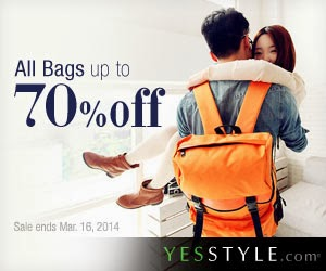 YesStyle Bag Sale! Up To 70 % Off Until March 16th!!