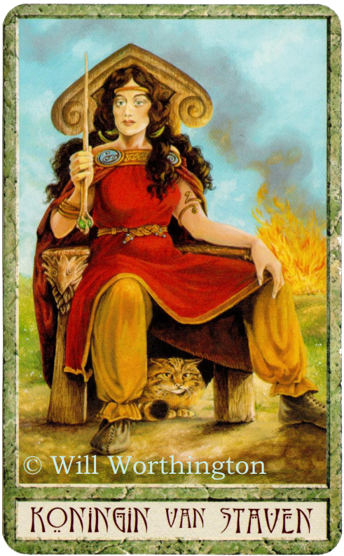 Druidcraft Tarot. Queen of Wands, Will Worthington