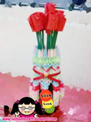 3d origami vase