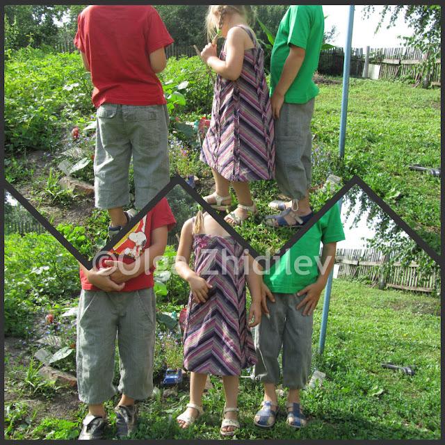 как сшить детские штаны без выкройки 3