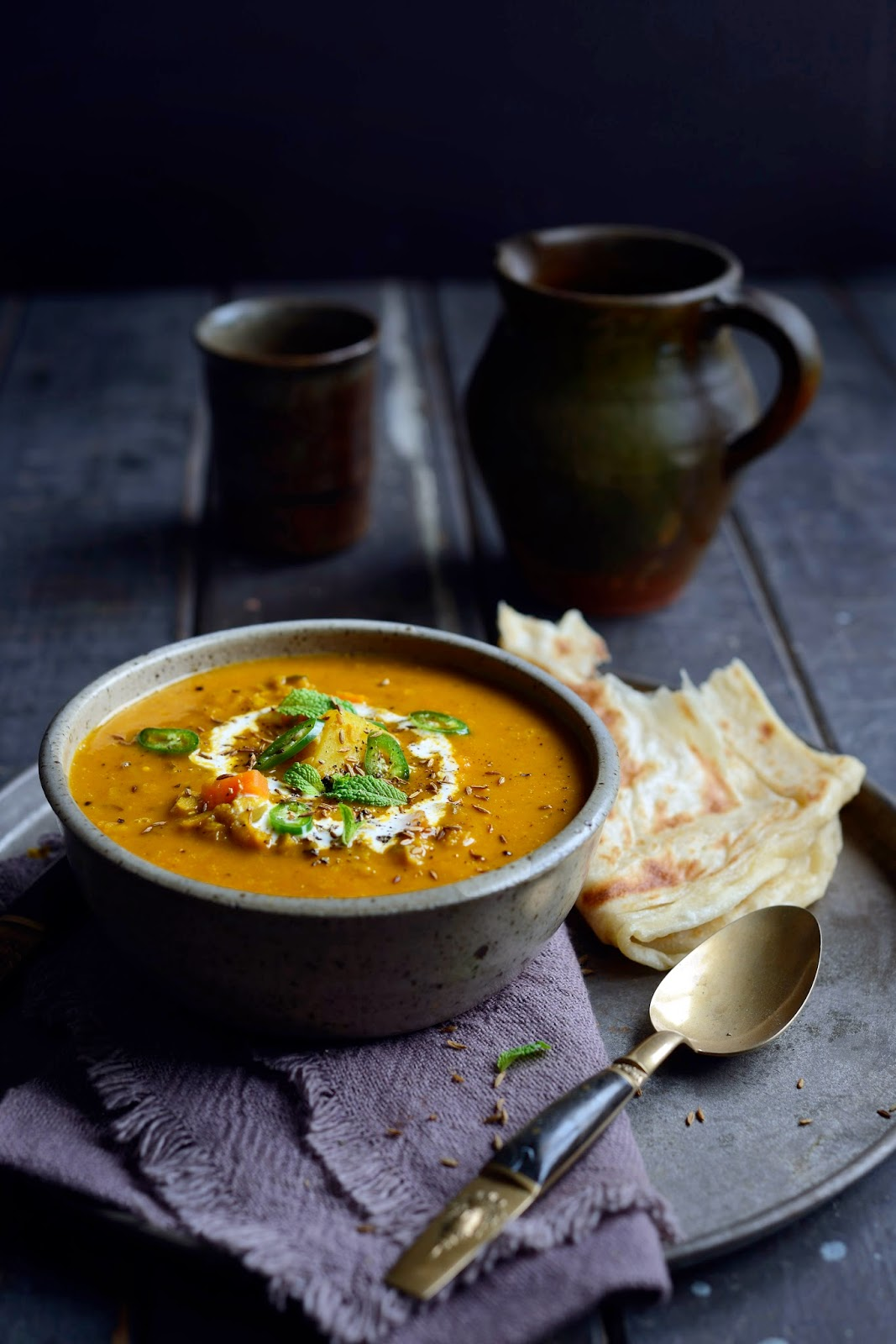 fragrant spiced Indian vegetable & lentil soup – Stuck in the kitchen