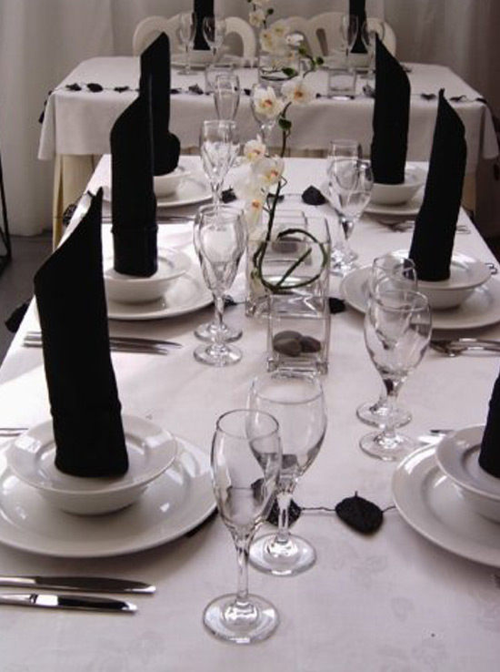 Table Decorations Black And White Theme Black And White Centerpiece 3 1
