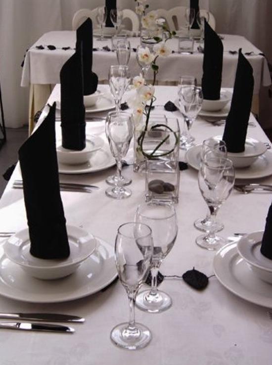Black And White Centerpieces : Big day discounts tuesday theme black white