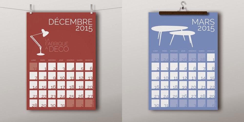 La fabrique d co un calendrier design et gratuit - Calendrier design ...