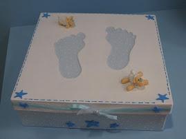 Mais uma doçura...Caixa para guardar as Lembranças de Nascimento do Príncipe!!