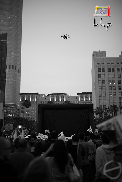 A media drone took aerial footage during the peaceful gathering protesting the brutal police force used against citizens in Turkey.