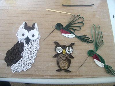 paper quilling birds design ideas