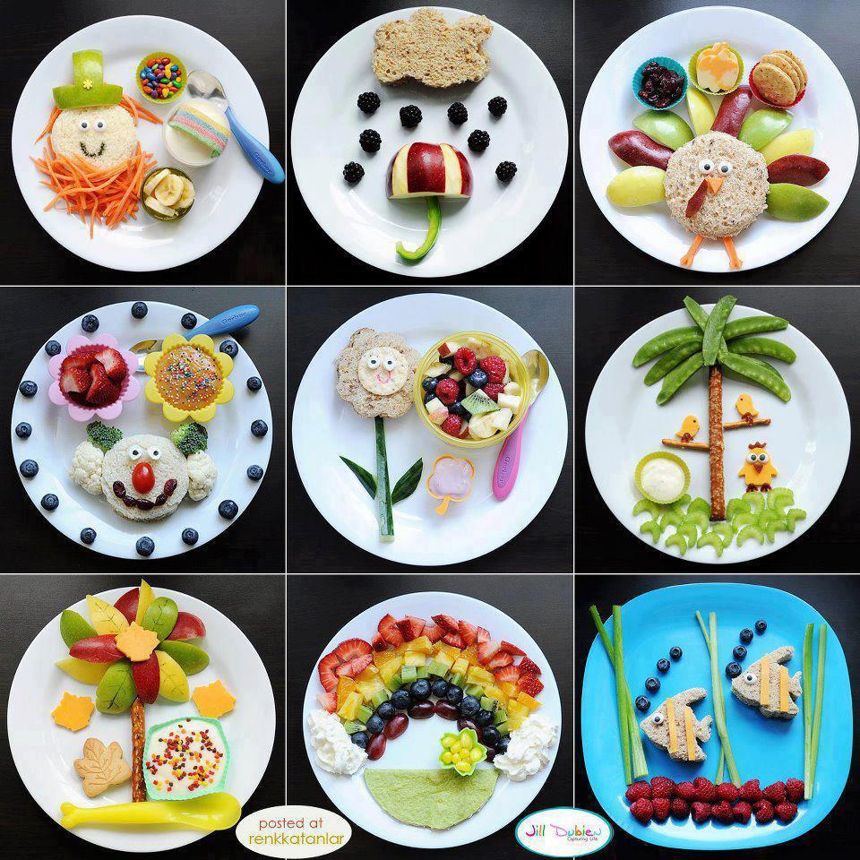 Çocuklar için eğlenceli yemekler :)