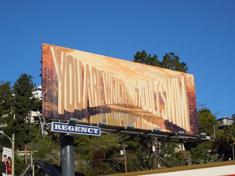 watching Adult Swim cinemascope billboard