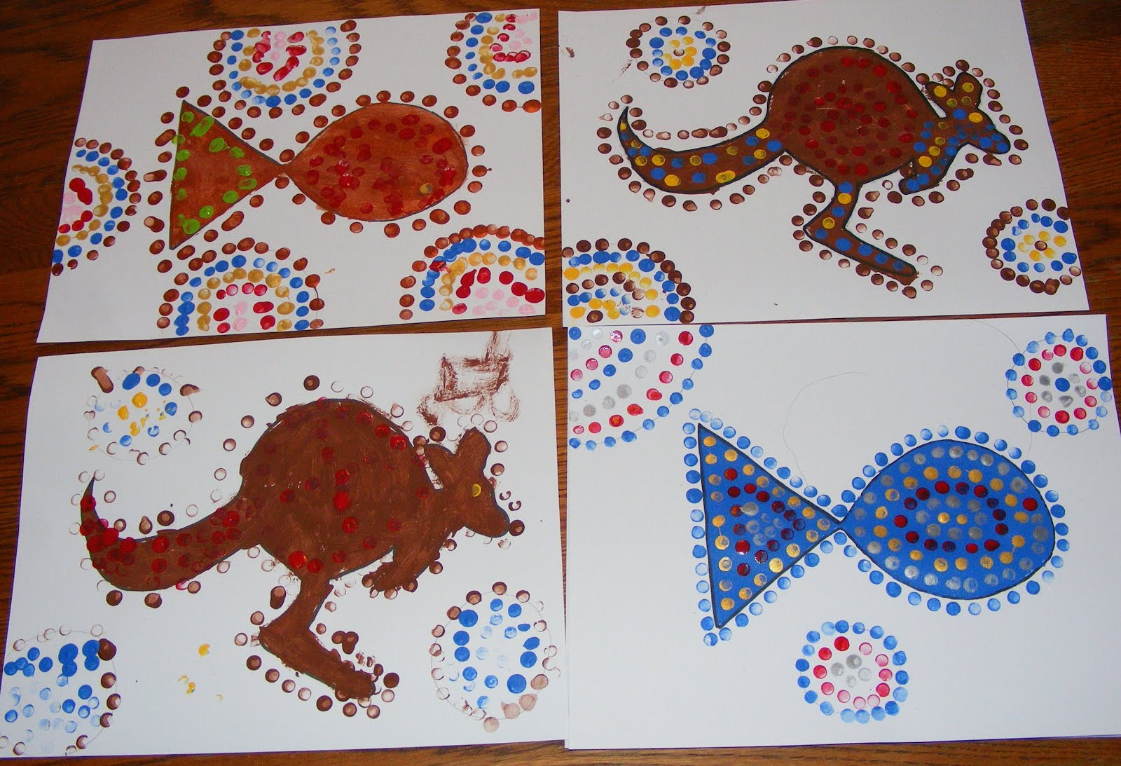 Ten Kids And A Dog Sunday Art Lessons Aboriginal Dot Art