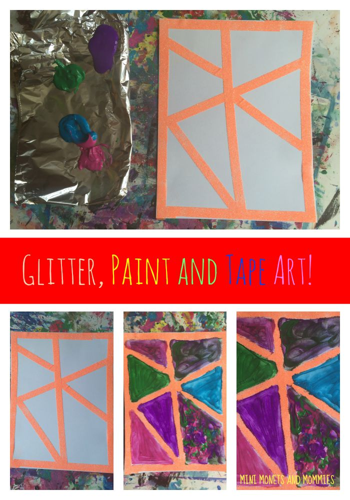 Mini Monets and Mommies: Make Mock Stained Glass with Tape and ...