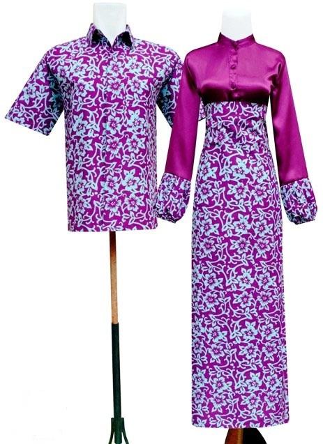Gamis Batik Pasangan Sarimbit Motif Sekar Batik Tata By
