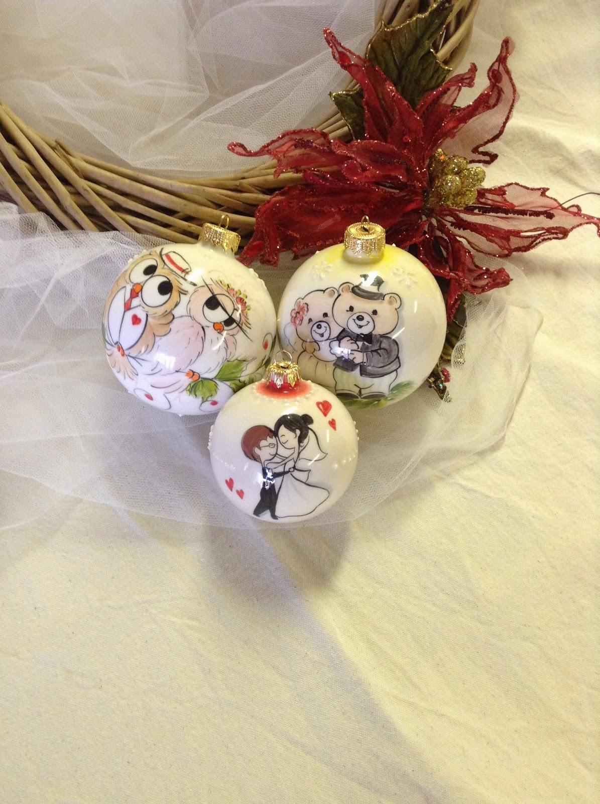 Bien-aimé ceramica come mestiere: Palle di Natale come originale bomboniera  NM75