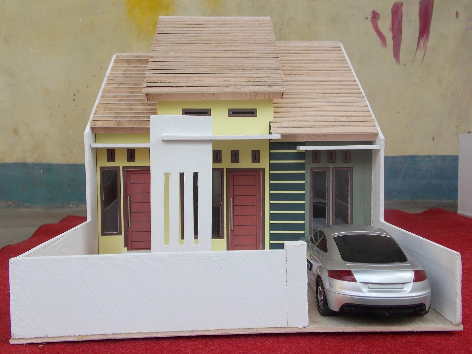 Miniatur Rumah Minimalis Model Miniatur Rumah Minimalis Paling Keren