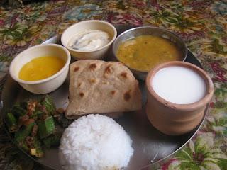 Gujarati food thali