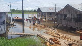Enchente evolui e Defesa Civil do Amazonas coloca novos municípios em Situação de Alerta