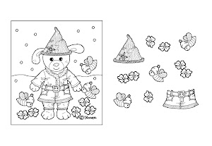 Ulla Christmas Cut-outs 2014 to Colour