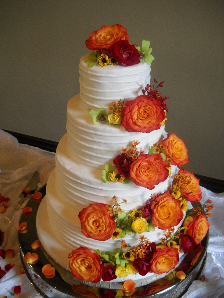 Cake Decor Fall : Beautiful Bridal: Fall Wedding Cake Ideas