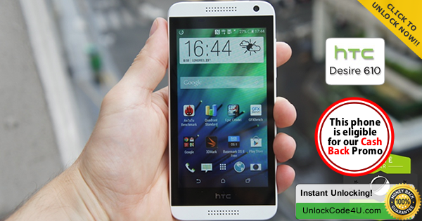 Factory Unlock Code for HTC Desire 610