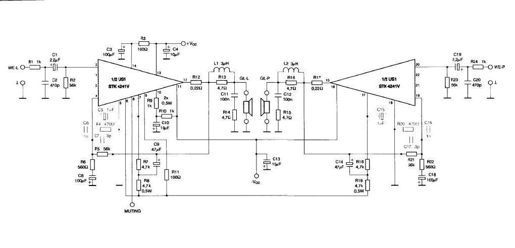 stk4241v 120w stereo amplifier rh rangkaianlo blogspot com Guitar Tube Amplifier Schematics Guitar Tube Amplifier Schematics