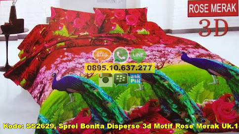Sprei Bonita Disperse 3d Motif Rose Merak Uk.180x2