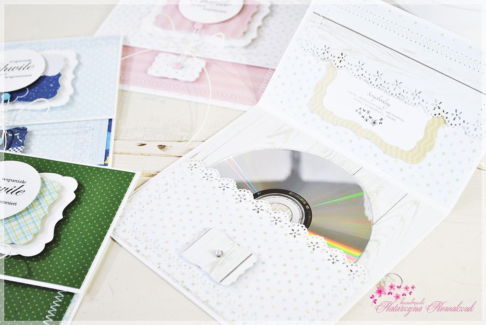 folder na płytę cd dziecięcy scrapbooking