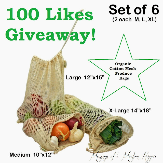 Organic Cotton Mesh Produce Bags Giveaway - Musings of a Modern Hippie