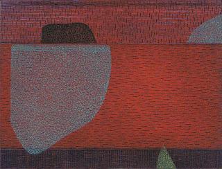 Georg Bothe: Pretty Vacant XXVI (Abzug II vonVI), Farbradierung, Kaltnadel, 2012