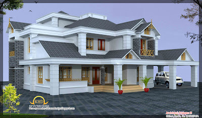 Luxury home design elevation 4500 sq ft home appliance for 4500 sq ft home