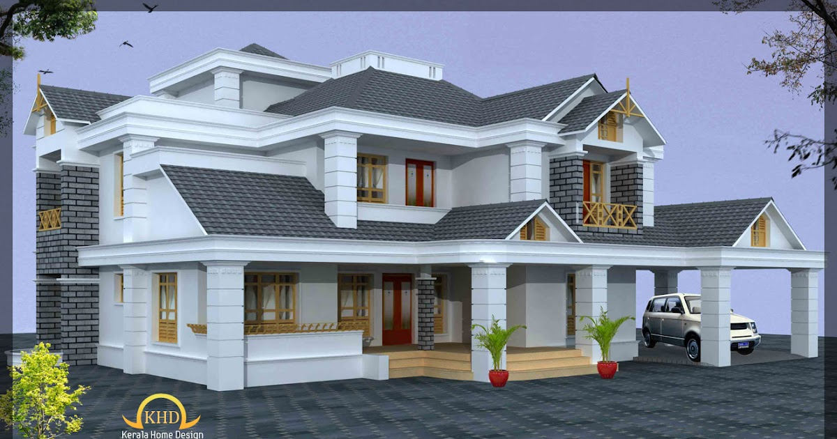 Luxury home design elevation 4500 sq ft kerala home for 4500 sq ft home