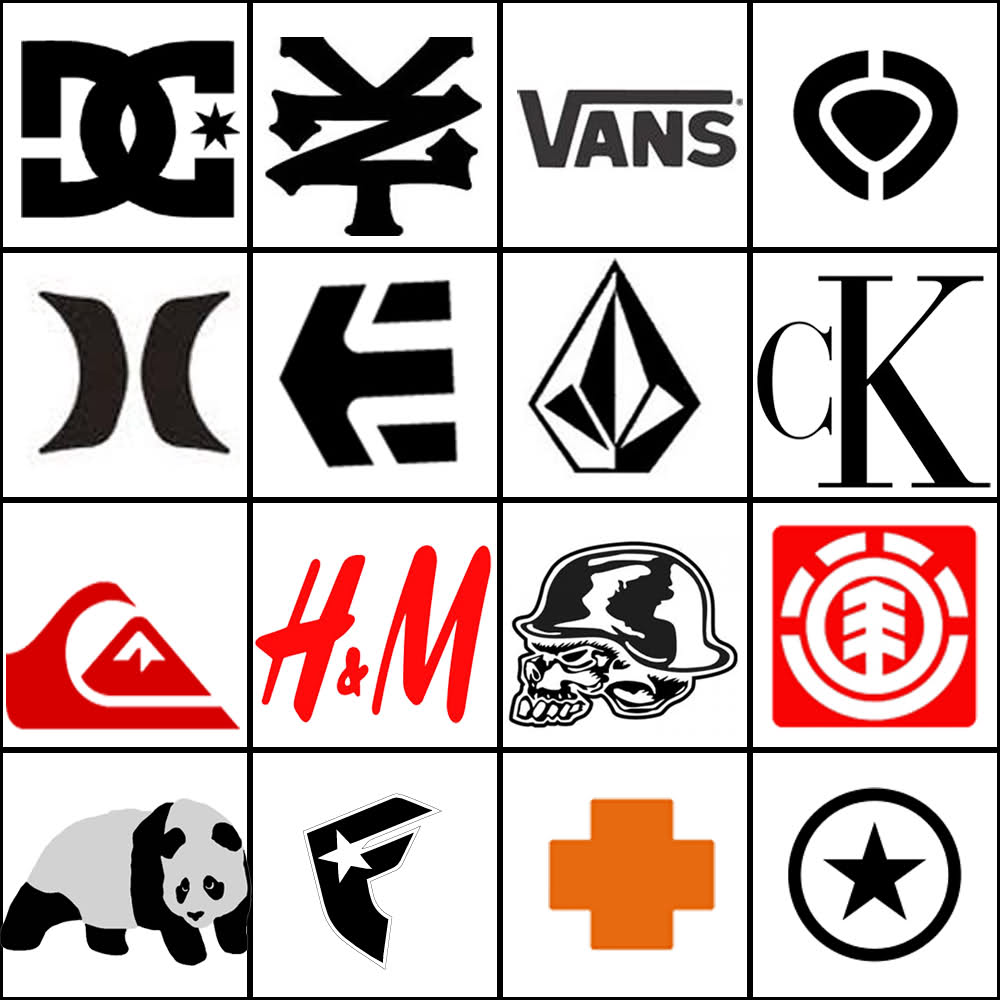 Logo Collection Famous Clothing Logos