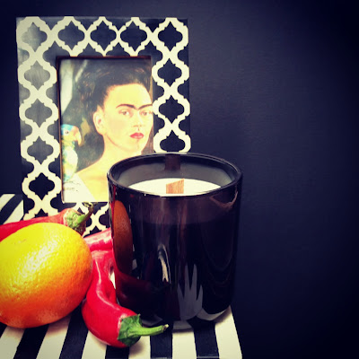 Frida Kahlo, candle, chilli, bone inlay, altar