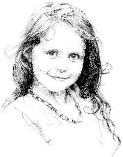 portrait gift amazonenco diana Портрет чернилами