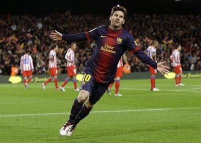 Messi celebra un gol frente al Atlético