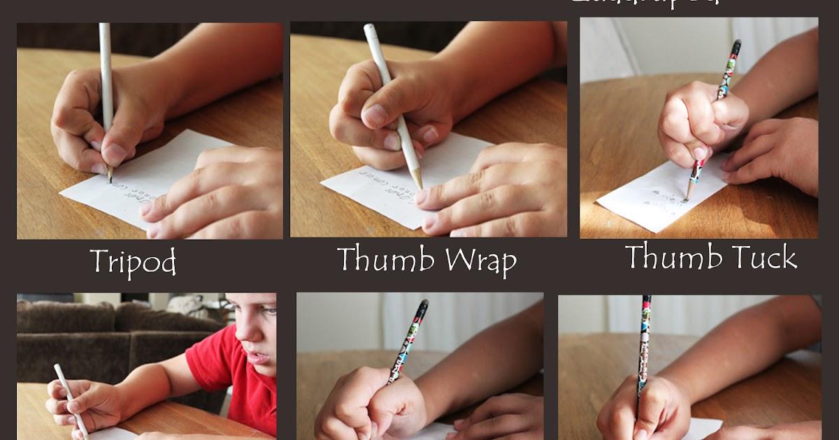 Thumb wrap pencil grip