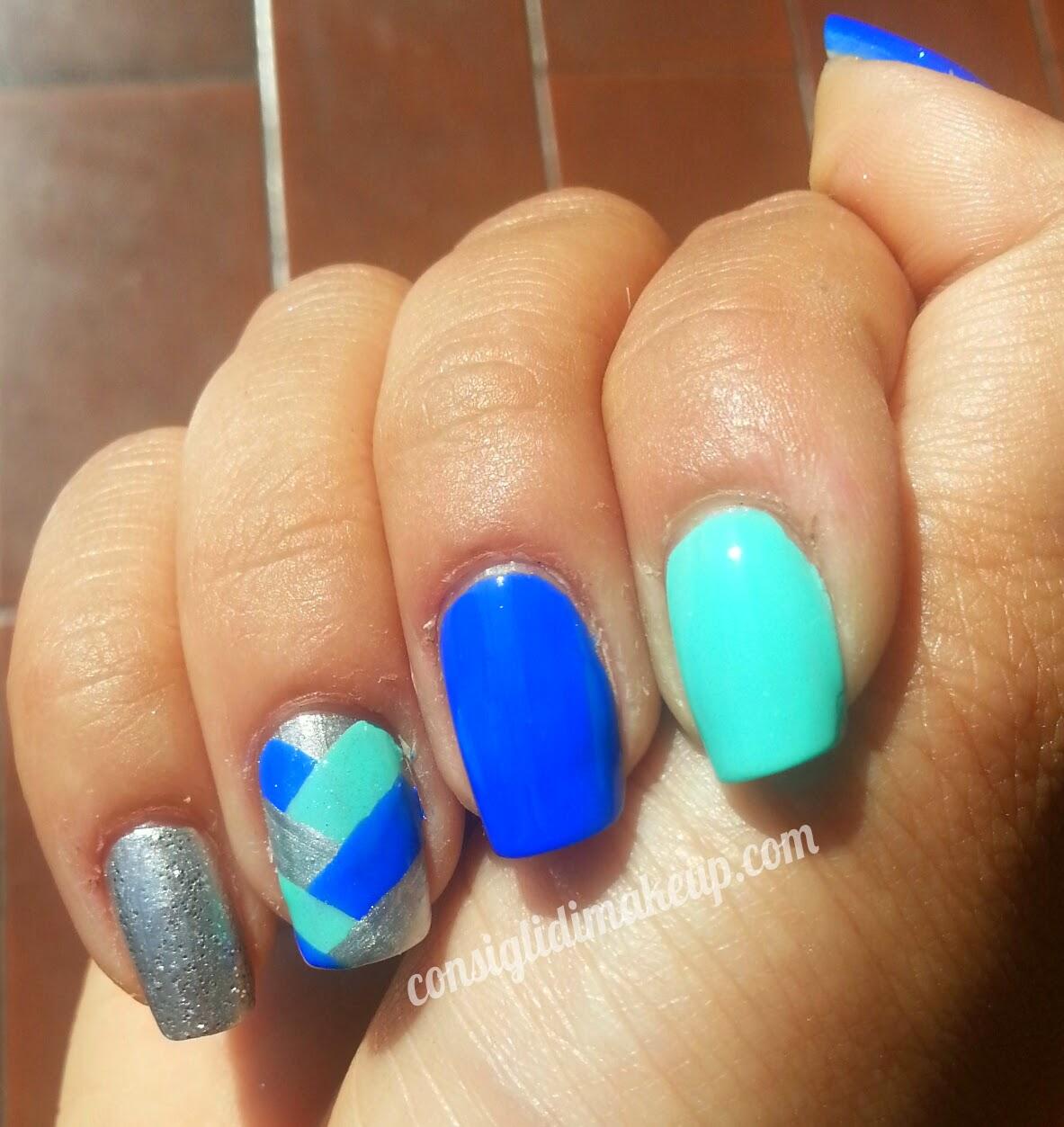 nail art treccia unghie
