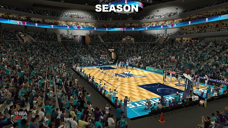 Charlotte Hornets 2014-15 Season Court