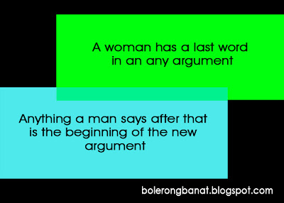 A woman has a last word in an argument