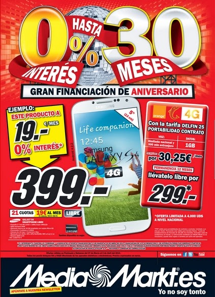 Catalogo media markt financiacion marzo 2014