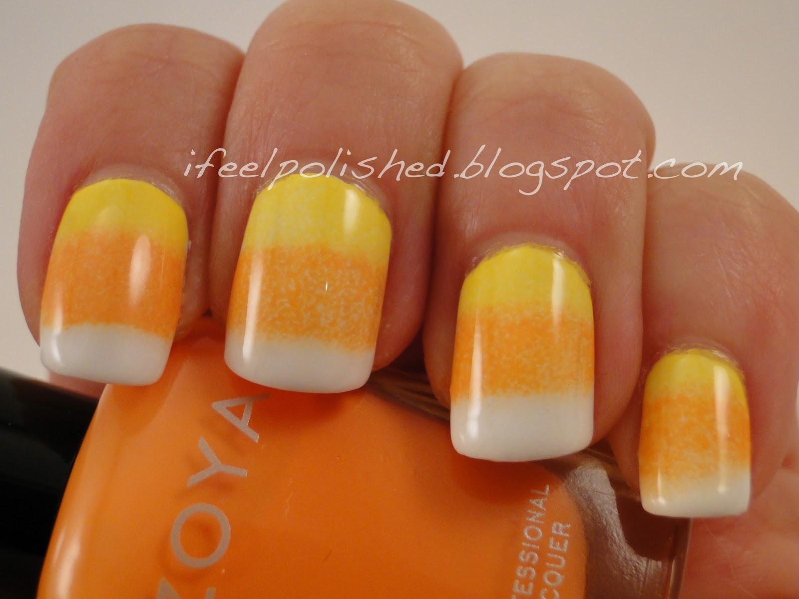 I Feel Polished Halloween Nails Candy Corn