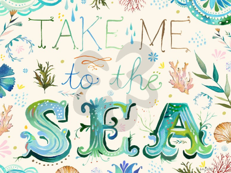 Take me to the Sea Wall Decal by Katie Daisy
