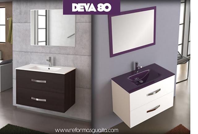 Mueble Baño Gris BrilloMueble DEVA 70 o 80, la mejor opción para el