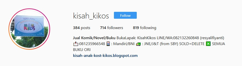 Yuk Follow KIKOS Di IG