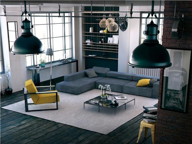 interior dengan aksen warna kuning 6