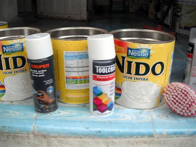 Lampara de latas o botes de leche paso a paso | Un detalle hace la
