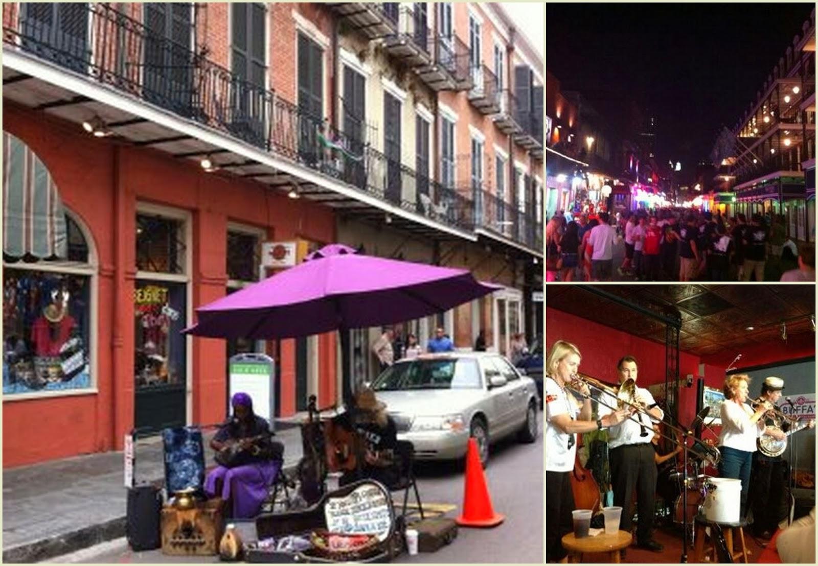 """Música callejera en Bourbon Street"""