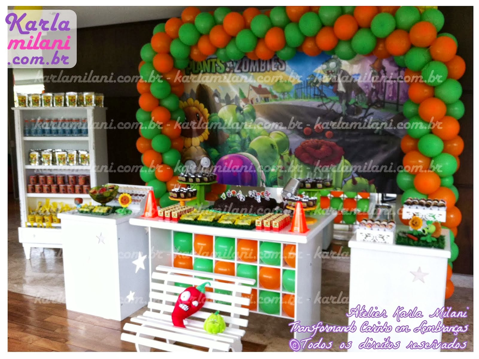 decoracao festa zumbi:Karla Milani – Party Designer: Festa – Plantas vs Zumbis