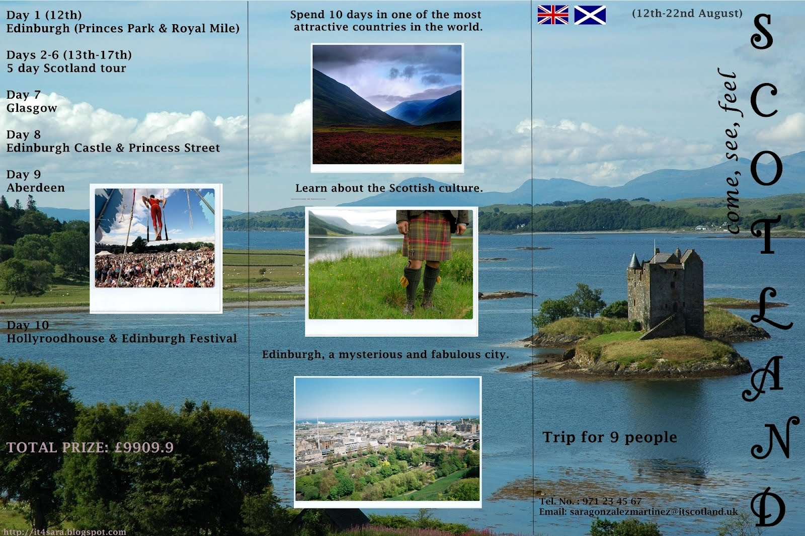 IT 4 Sara: Scotland Trip Brochure