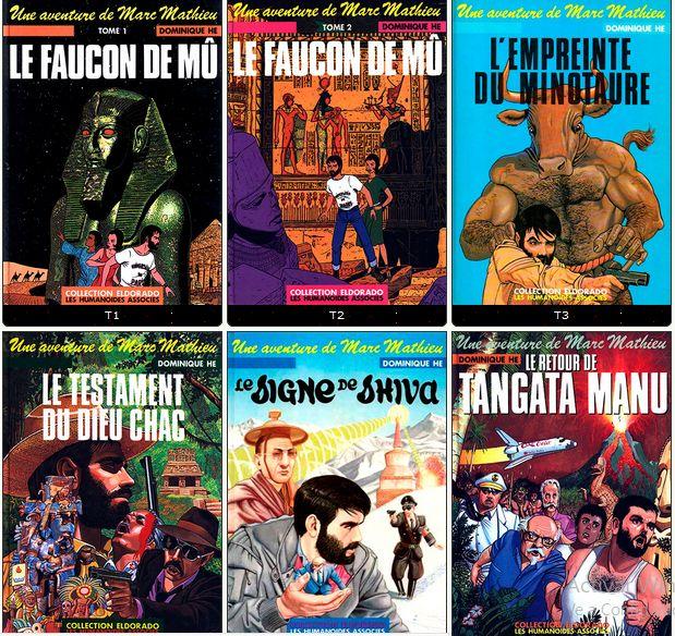 Une aventure de MARC MATHIEU - Dominique Hé (6 tomes) Série Complète